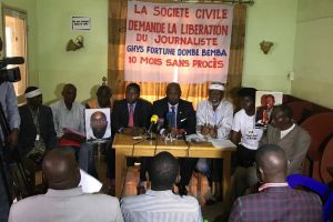 Point de presse de la société civile sur la détention du journaliste  Fortuné DOMBE BEMBA