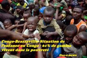 Congo-Brazzaville: Situation de l'enfance au Congo – 61% de gamins vivent dans la pauvreté