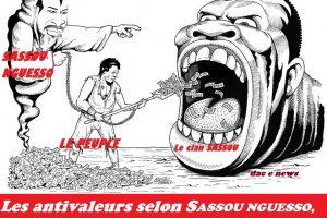 Les antivaleurs selon SASSOU NGUESSO, c'est taisez-vous, nous, on bouffe !!