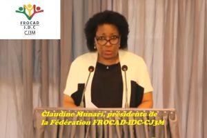Claudine Munari, présidente de la Fédération FROCAD-IDC-CJ3M