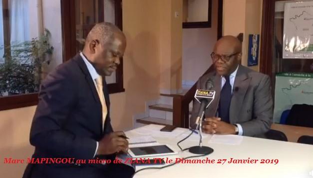 Marc MAPINGOU au micro  de ZIANA TV le Dimanche 27 Janvier 2019