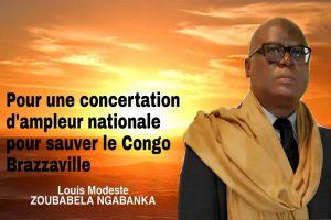 Pour une concertation d'ampleur nationale pour sauver le Congo