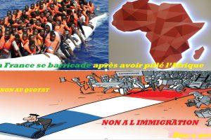 La France se barricade après avoir pillé l'Afrique.