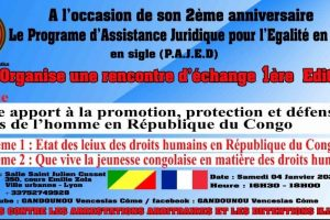 PAJED contre les arrestations arbitraires et les détentions illégales au Congo