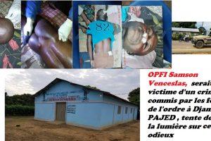 PAJED dénonce le décès suspect d'un jeune à Djambala, le nommé OPFI Samson Venceslas