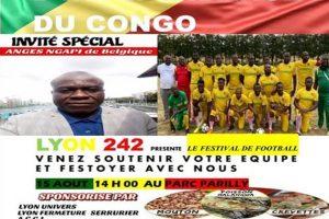 Venez soutenir l'équipe de foot de la communauté congolaise de Lyon ce 15 Août 2020.
