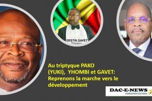 Au triptyque PAKO (YUKI) , YHOMBI et GAVET: Reprenons la marche vers le développement.