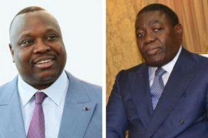 Jean-Jacques Bouya (à gauche) et Gilbert Ondongo (à droite) deux pilleurs du Congo-Brazzaville