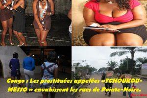 Congo : Les prostituées appelées «TCHOUKOU-MESSO » envahissent les rues de Pointe-Noire.