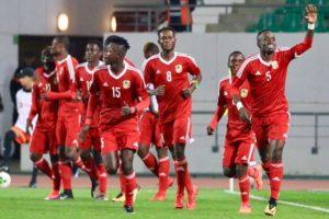La joie des Congolais après le but de Carof Bakoua face au Burkina Faso, le 20 janvier 2018.