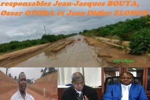 L'hécatombe des routes : trois responsables,  JJ BOUYA, Oscar OTOKA et Jean Didier ELONGO