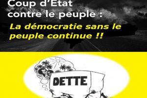 Un coup d'Etat contre le peuple . la démocratie sans le peuple continue !!!