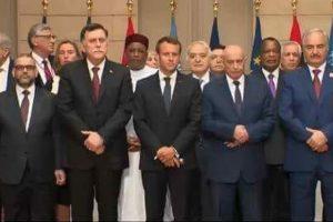Photo finale de la  Conférence internationale sur la Libye, Paris 29 Mai 2018