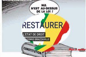 Le renforcement de l'état de droit au Congo .