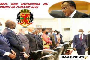 CONGO_BRAZZAVILLE : COMPTE RENDU DU CONSEIL DES MINISTRES DU MERCREDI 28 JUILLET 2021